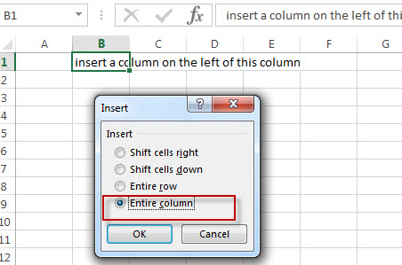 excel column entire column