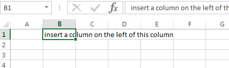 excel column select cell