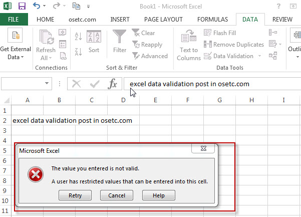 excel data validation 5