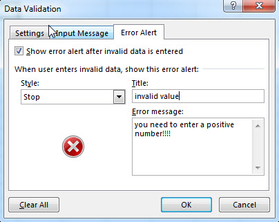excel data validation error alert1