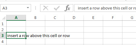 excel row select cell