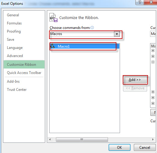 Add a Macro to the Toolbar