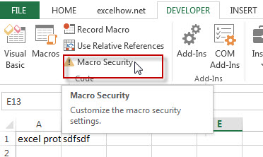 Macro security