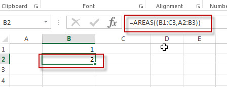 excel areas function example2