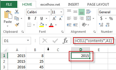 excel cell function example2