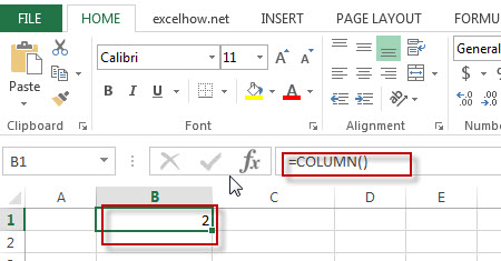 excel columns function example1