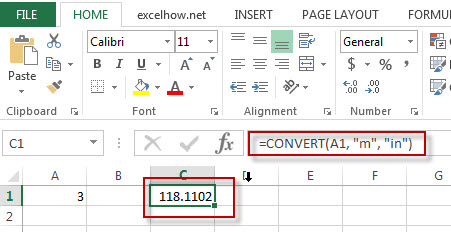 excel convert function example1
