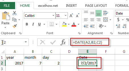 excel date function example1