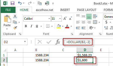 excel dollar function example 2