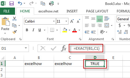 excel exact function example 1