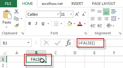 excel false function example1