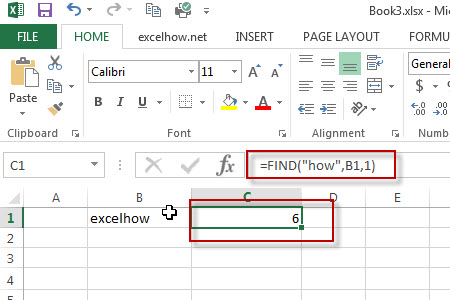 excel find function example1