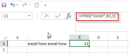 excel find function example3