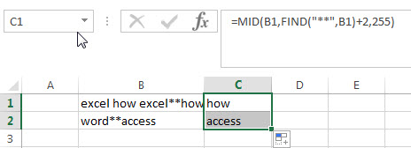 excel find function qa3-1