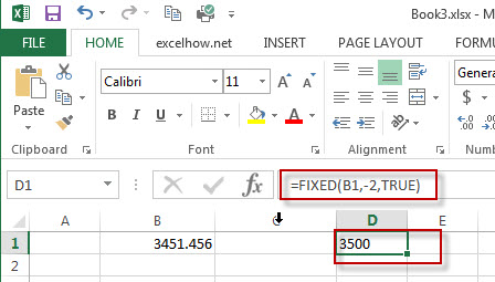 excel fixed function example1
