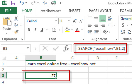 excel function search example1