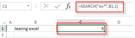 excel function search example2
