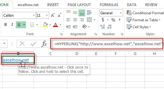 excel hyperlink function example1