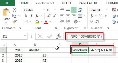 excel info function example1
