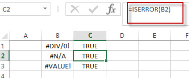excel iserror function example1