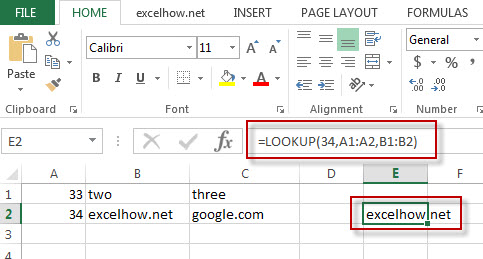 excel lookup function example 1