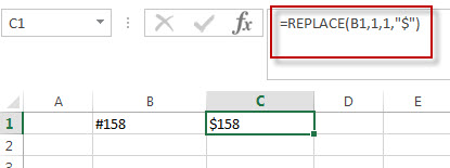 excel text function replace example2