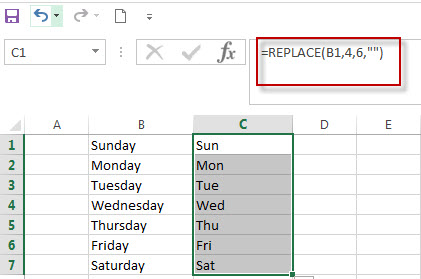 excel text function replace question1
