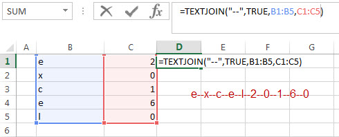 excel textjoin function example3