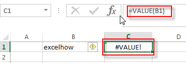 excel value function example2