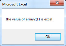 VBA One-dimensional Array example1