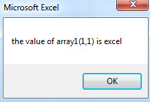 VBA two-dimensional Array example1