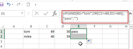 Excel IF formula with AND OR logical functions2