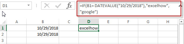 Excel IF formula with Equal to logical operators2