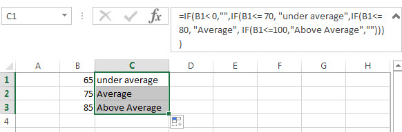 Nested IF Statement between different values1