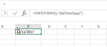Convert Current Date to Text1