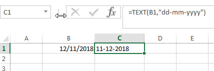 Convert Date to Text with Text Function2