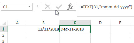 Convert Date to Text with Text Function3