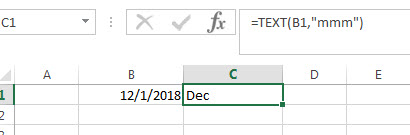 Convert date to month name 1