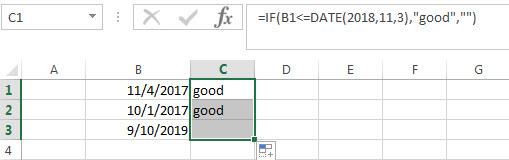 Excel IF Function With Dates2
