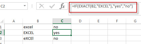 Excel IF function check if a cell contains text case-sensitive1