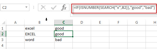 Excel IF function check if part of cell matches specific text1