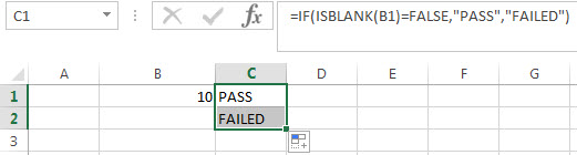 Excel IF function check if the cell is blank or not-blank1