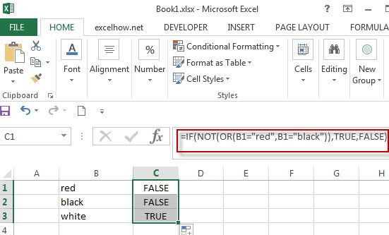 Excel formula using IF NOT function1
