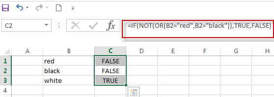 Excel formula using IF NOT function2