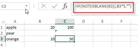 Excel formula using IF NOT function3