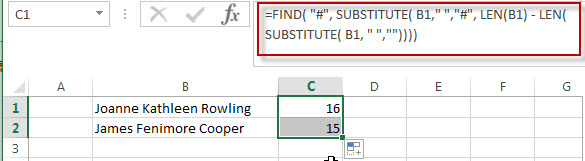 Get Last Name from Full Name in Excel1