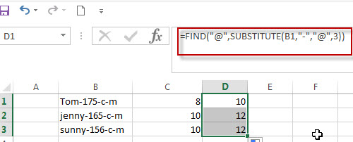 Get the Position of Second or Third of the Specified Character1