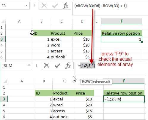 Get the Relative Row Position of all Rows in Range2