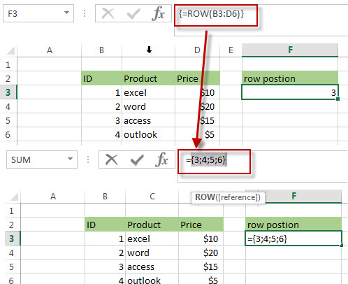 Get the Relative Row Position of all Rows in Range3