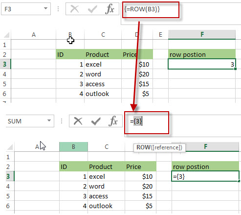 Get the Relative Row Position of all Rows in Range4